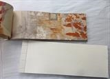 Ancient Places 1 and 2 by Estella Scholes, Artist Book, Collagraph on rusted paper