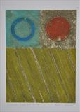 Concrete Coast no.6A. 2/3VE by Estella Scholes, Artist Print, Collagraph
