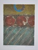 Concrete Coast no.6B. 3/3VE by Estella Scholes, Artist Print, Collagraph