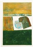 Groyne 1- green by Estella Scholes, Artist Print, Collagraph