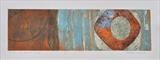 Porth Simdde 1D- Rust by Estella Scholes, Artist Print, Collagraph
