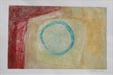 Porth Ysgo 2 - turquoise by Estella Scholes, Artist Print, Collagraph