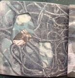 Sample page from Endless series by Estella Scholes, Artist Book, Monoprint