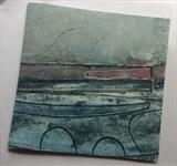 The Last Shoal by Estella Scholes, Artist Book, Collagraph and monoprint