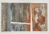 Under the Pier 1- grey by Estella Scholes, Artist Print, Collagraph