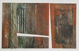 Under the Pier 1- rust by Estella Scholes, Artist Print, Collagraph