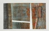 Under the Pier 2- rust by Estella Scholes, Artist Print, Collagraph