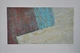 Washed Ashore, noon. by Estella Scholes, Artist Print, Collagraph